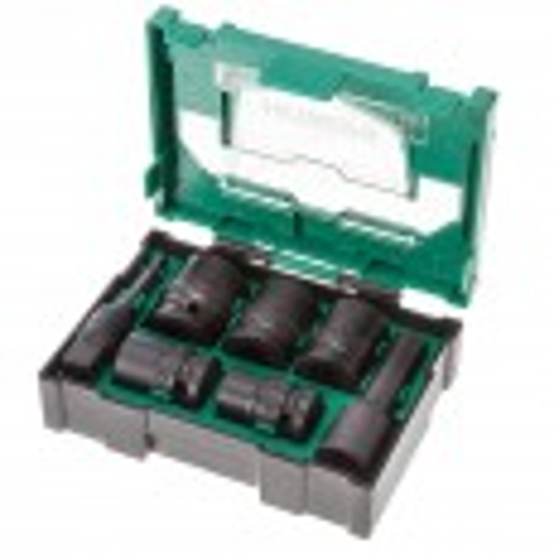 "Hitachi 40030025 1/2"" Impact Socket Stackable Bit Box 7 Pieces"