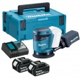 Makita DBO180RFE LXT 18v 125mm Random Orbit Sander inc 2x 3.0Ah Batts