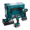 Makita DLX2131J 18v Cordless 2 Piece Kit DHP482 Combi + DTD152 Impact Driver inc 2x 3Ah Batteries