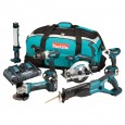 Makita DLX6000PM 18V Li-ion 6 Piece Cordless Kit 3x 4ah Batts with Twin Charger