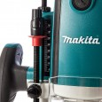 "Makita RP1801X 1/2"" Plunge Router Fixed Speed inc Straight Guide with Fine Adjustment"