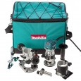 "Makita RT0700CX2 1/4"" Router / Trimmer with Trimmer, Tilt and Plunge Bases"