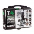 "Trend T4EK 850W 1/4"" Variable Speed Router 230v in Kit Box"