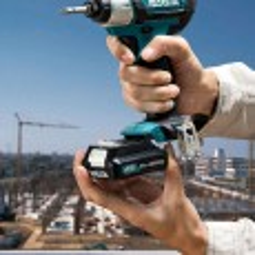 Makita CLX202AJ Drill Set 10.8v CXT Slide Twin Pack Combi Drill/Impact Driver