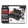 Trend SET/SS11X1/4TC 6 Piece TCT Starter Cutter Set 1/4""