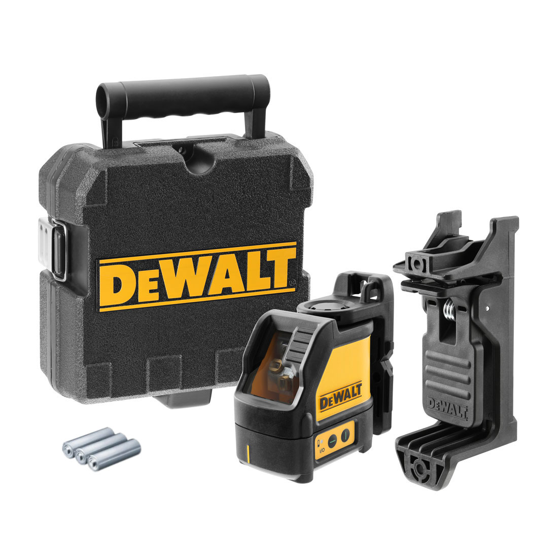 DeWalt DW088CG Green Beam Self Levelling Cross Line Laser Level Kit