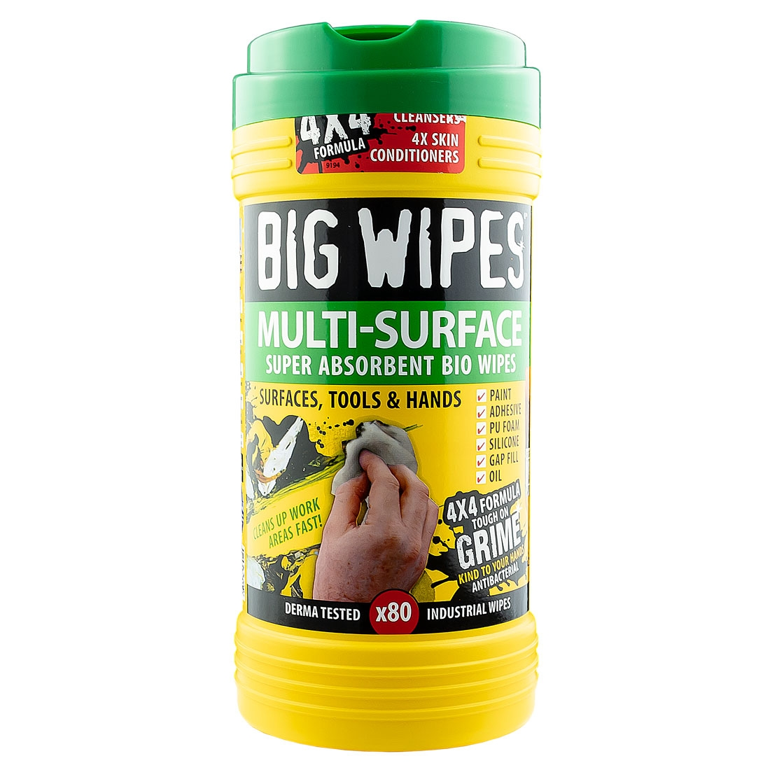 BIG WIPES Multi-Surface 4x4 Wipes - Green Top