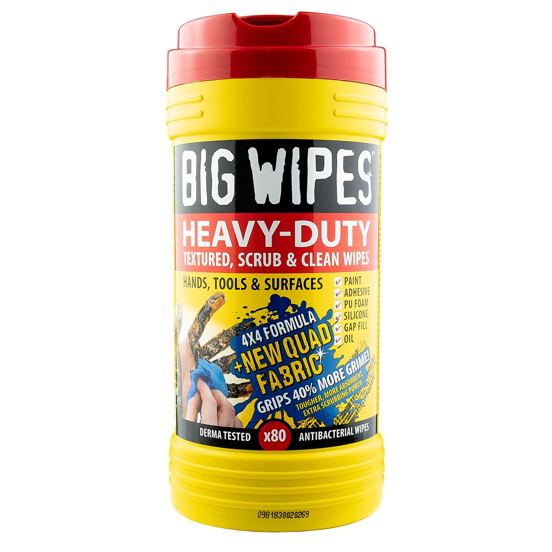 BIG WIPES Heavy Duty 4x4 Cleaning Wipes - Red Top