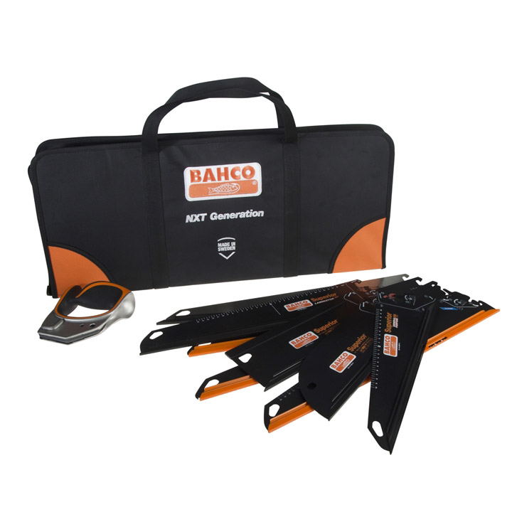 Bahco ERGO Handsaw System with Handle, x8 Blades and Carry Case
