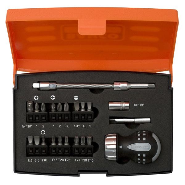 Bahco 808050S22 Stubby Screwdriver Set inc x21 Bits